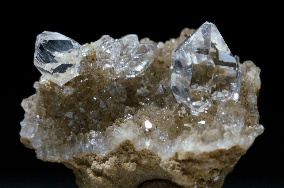 ハーキマーダイヤモンドの綺麗な標本